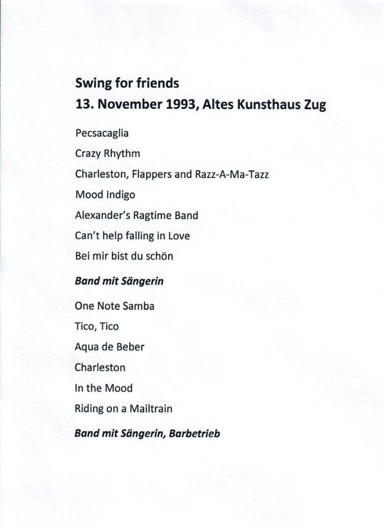 1993: Swing